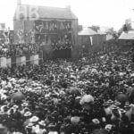 Large crowd on the Market Place Belper for Queen Victoria's Diamond jubilee celebrations.