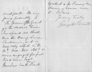 Second and third pages of letter from George Henry Strutt
