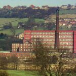 The Belper Mill complex in colour.