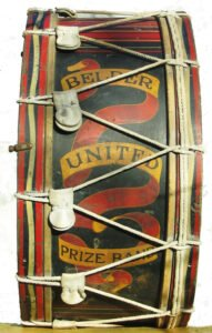 Bass drum from front - society artefact