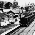 Train waiting at Belper Railway Station in 1880