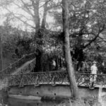 Edwardian photograph of entrance to Belper River Gardens