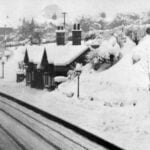 Belper railway station in snow