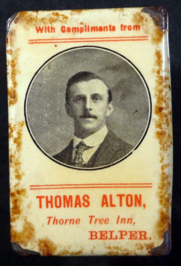 Matchbox tin from Thorne Tree Inn Belper