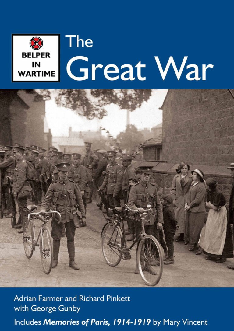 The front cover of the Belper in Wartime - The Great War book