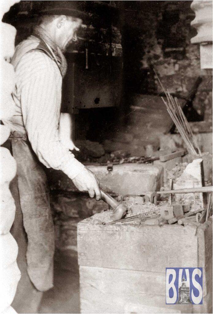 Nailmaker at work in Belper