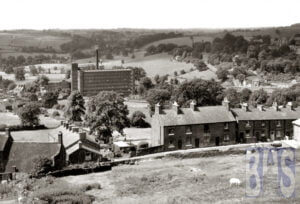 View of Belper Mill from the Festival gardens