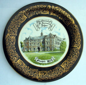 Plate depicting the convent of St Laurence, Belper