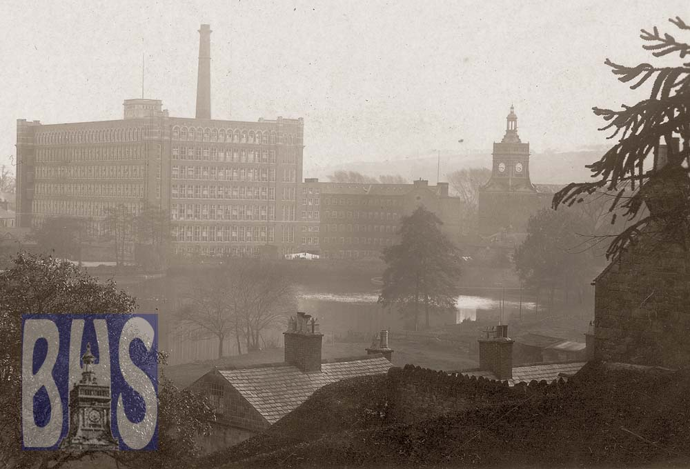 Belper Channels - Back Wyver Lane view to mills.