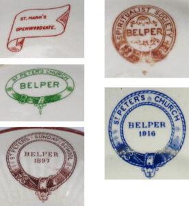 Belper motifs for saucers