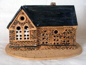 A pottery model of Fleet Girl's School, Belper