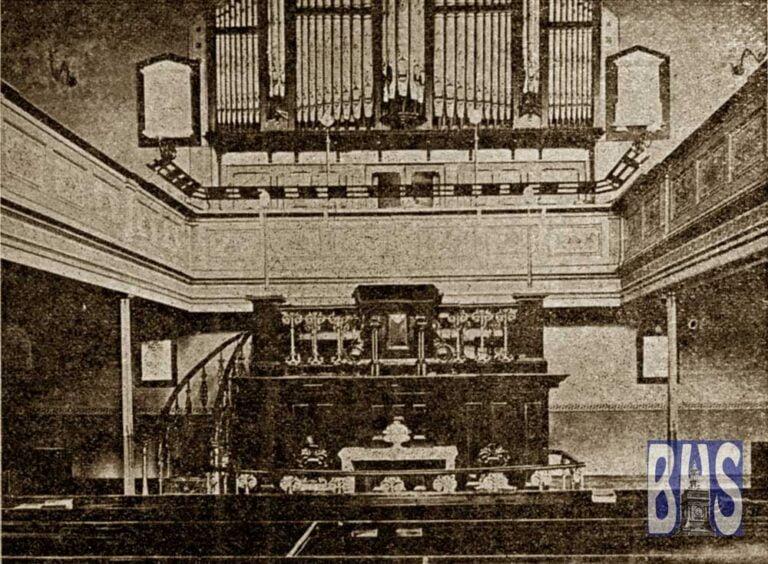 Interior of Trinity Methodist Church